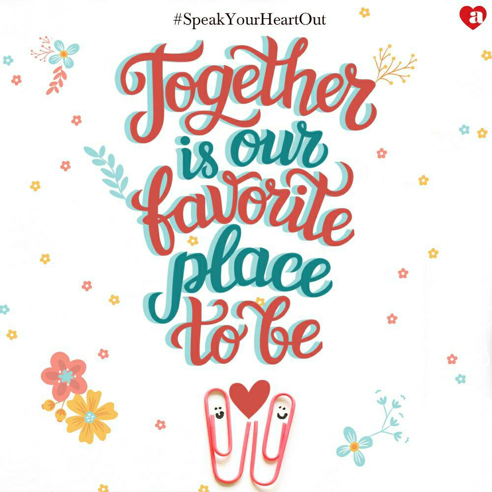 SpeakYourHeartOut Let s be together ArchiesOnline TogetherWeShine Love Heart https t.co BWjfTB1Roi