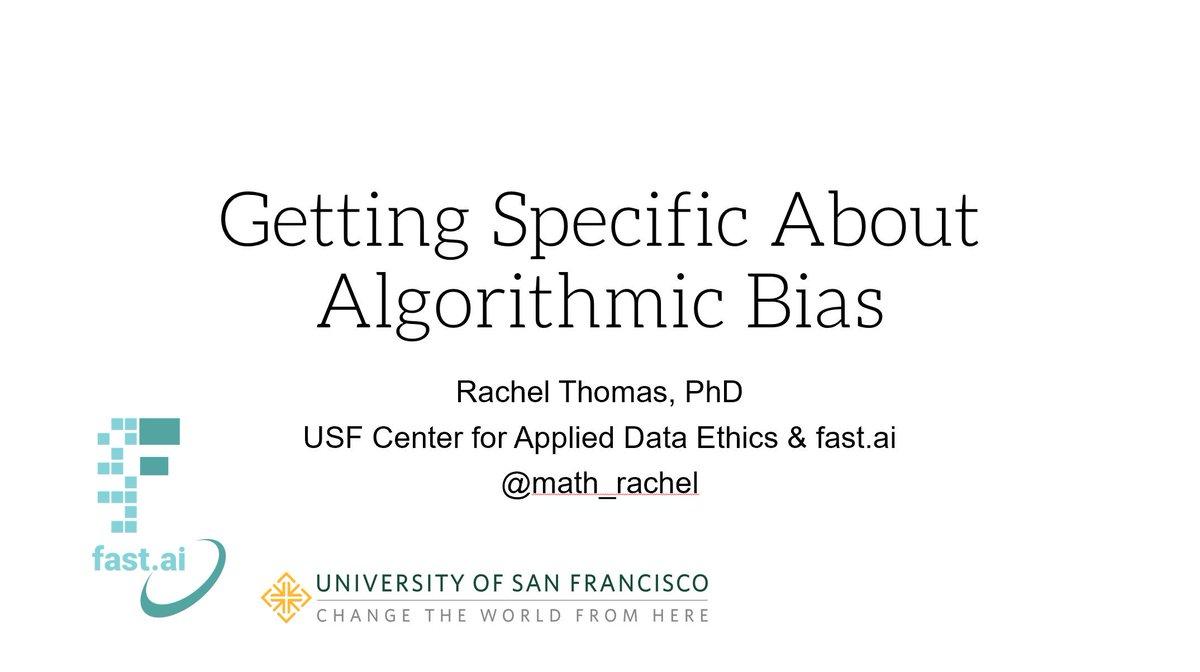 Getting Specific About Algorithmic Bias - Rachel Thomas - YouTube