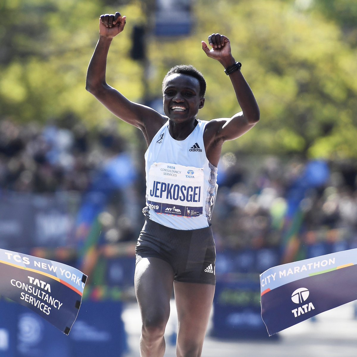 Imagination can take you from half marathon champion to running your first marathon ever. And winning it. Congratulations Joyciline Jepkosgei on a fearless 26.2. #HereToCreate