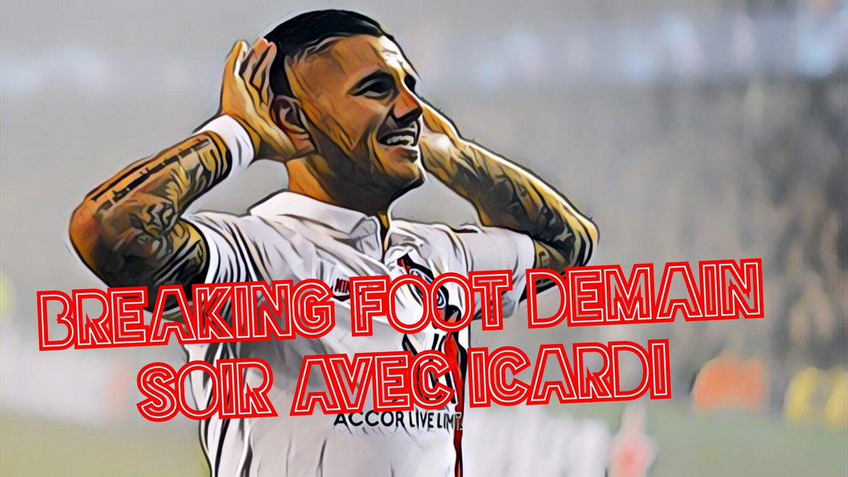Le nouveau serial buteur du PSG Mauro Icardi sera présent demain à 20h chez RMC pour #BreakingFoot ! Il parlera de son début de saison énorme, de l'actualité du club et également de ses ambitions avec Paris. À ne rater sous aucun prétexte @mohamedbouhafsi #ICARDI 🔴🔵