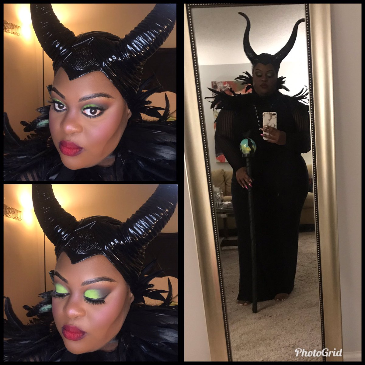 @fatgirlsbeauty #Maleficent2 #halloween2019 #plusizecosplay
