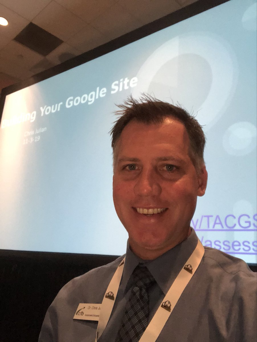 Excited to share our Google site journey with other assessment professionals @tsnaptalk #cfbisd #togetherwecan