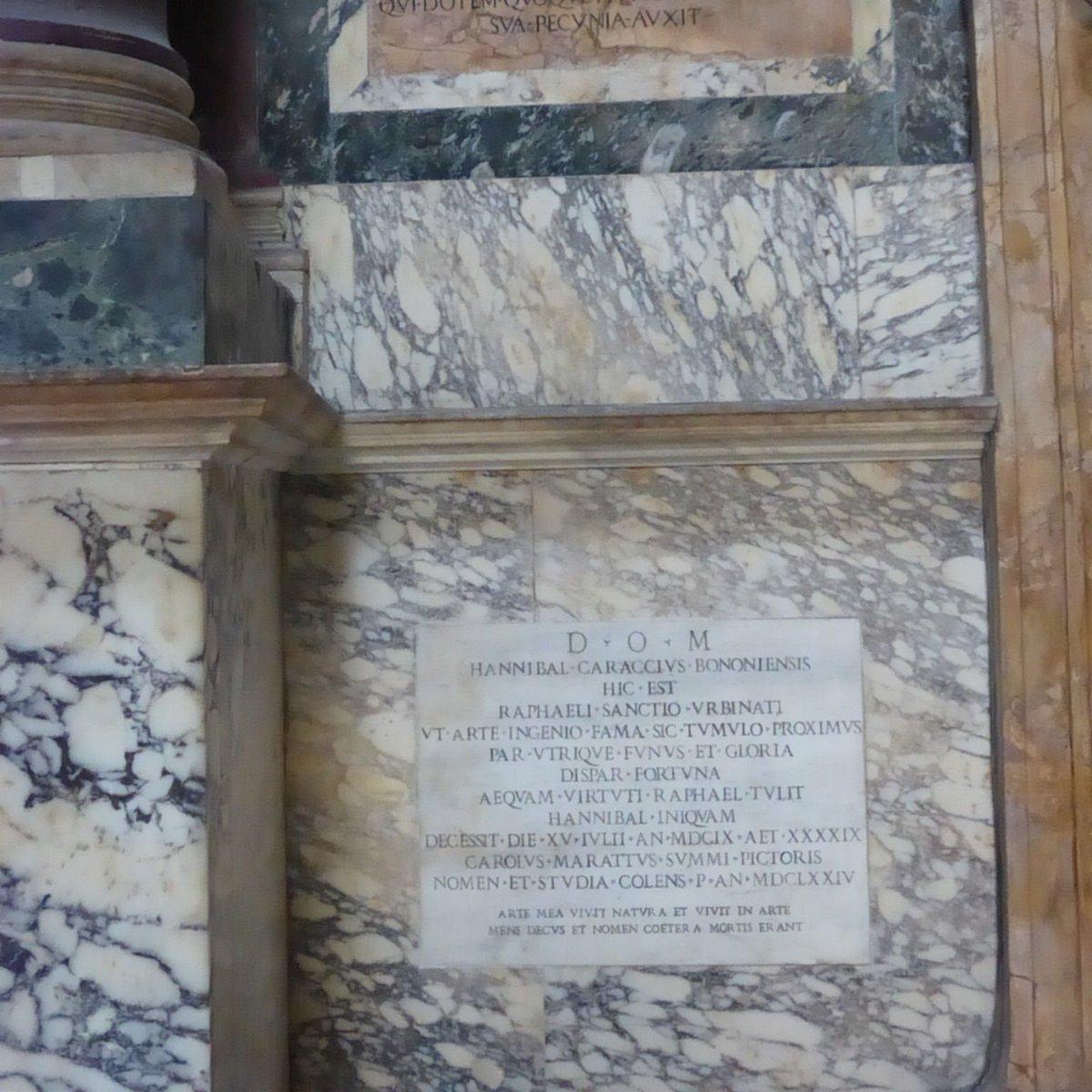 たしかに「〇〇の再来」は多いのだが、ベッローリの「ラファエッロの再来カラッチ」に対する入れ込みようは、パンテオンのラファエッロ墓の隣にカラッチのお墓を作っちゃうくらいだから筋金入りだよ。