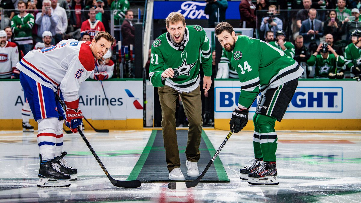 Thanks for having me last night @DallasStars Great win. Let's keep it going. Good luck the rest of the way!