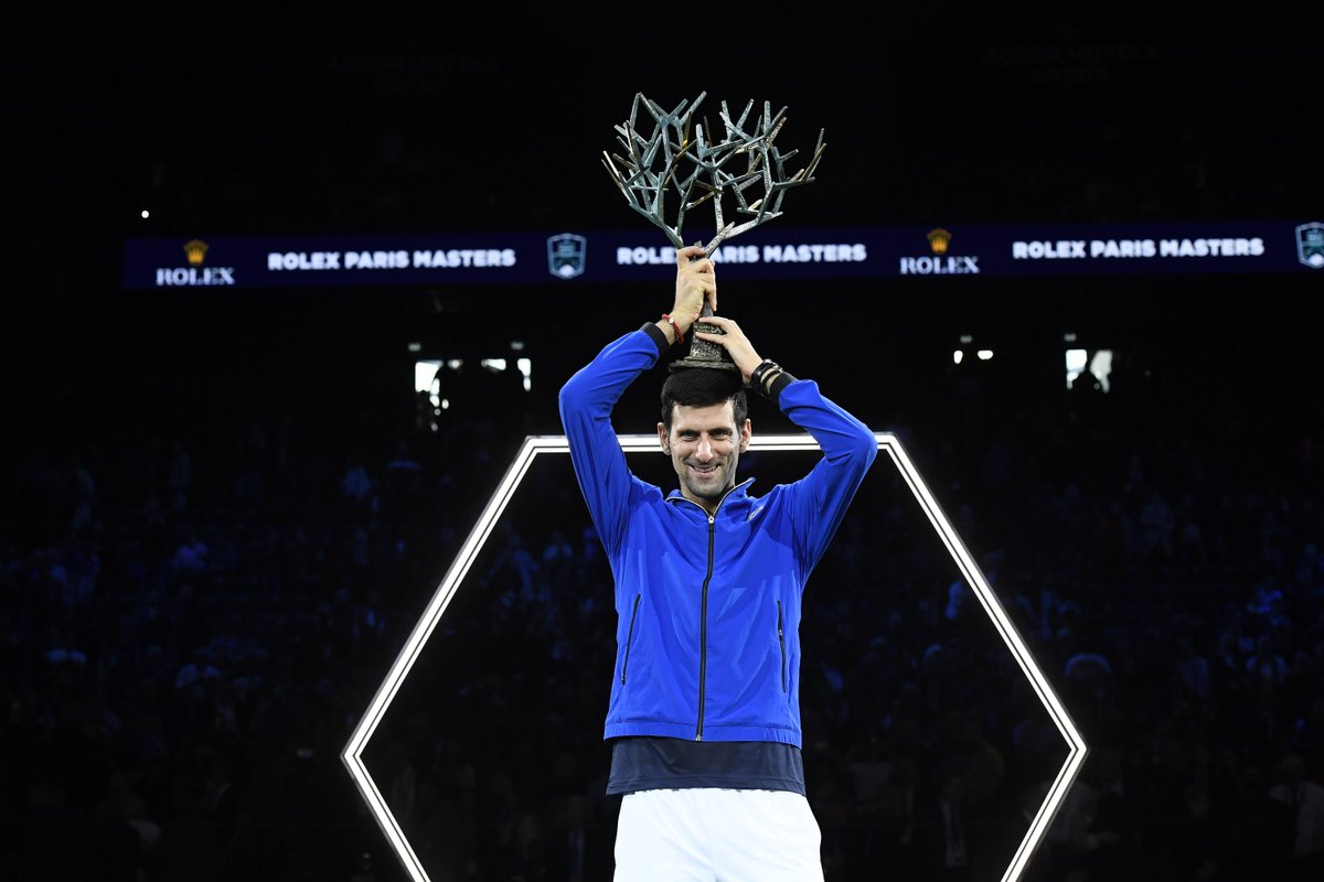 The MOST #RolexParisMasters....  Singles titles 5 Singles finals 6 Match wins 37 Consecutive match wins 17  @DjokerNole is King of Paris. We like the 👑😉 https://t.co/bSN1zrKjvu