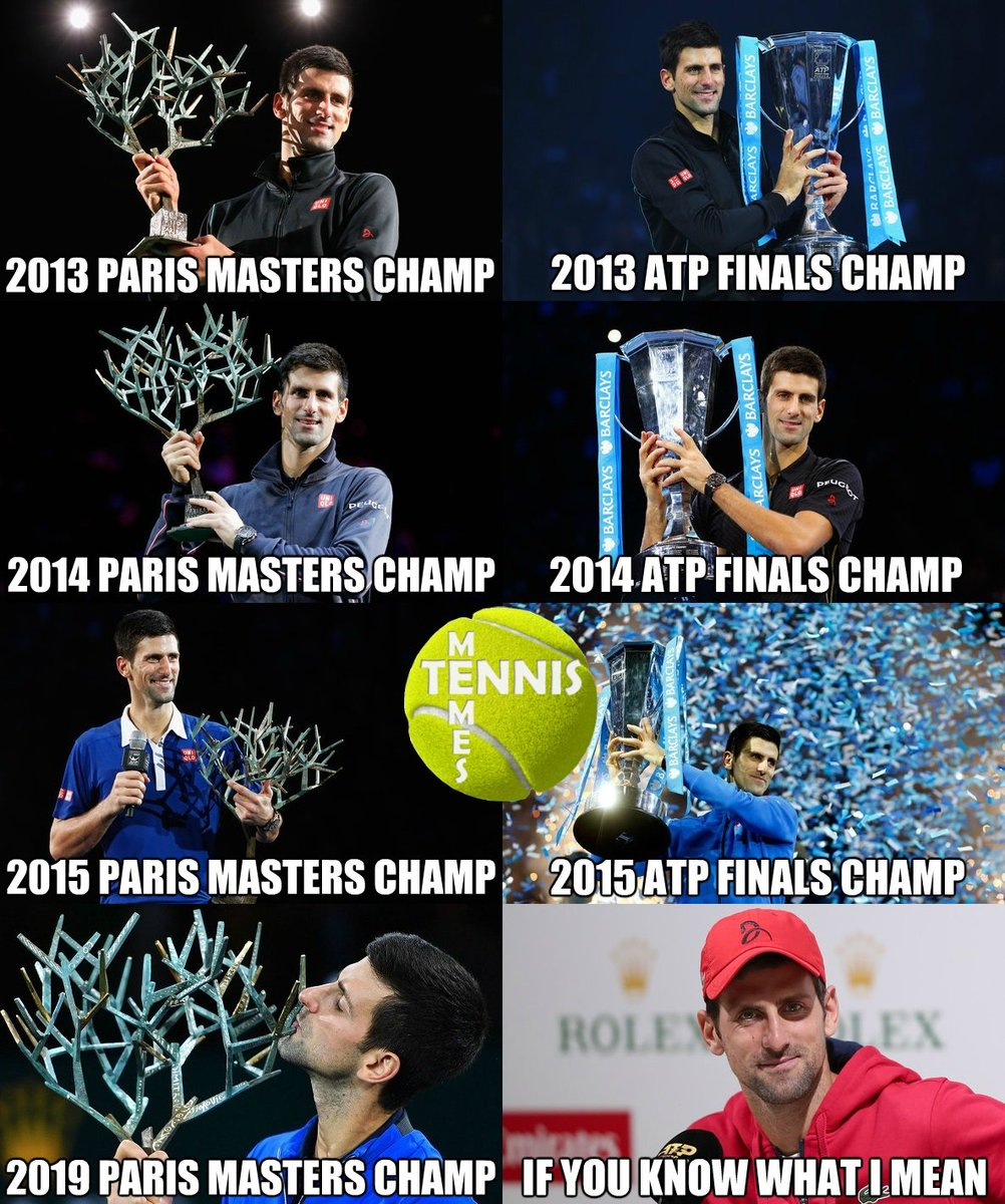 Tennis Memes On Twitter Novak Djokovic Be Like Rolexparismasters Nittoatpfinals Atpfinals