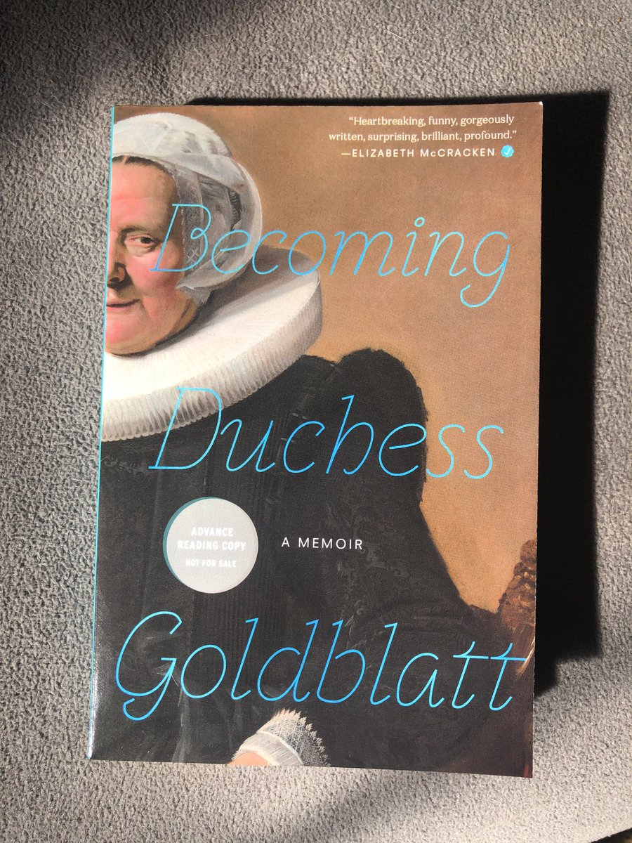 In one feverish sitting I devoured an ARC of this masterpiece, commonly known as the best book of the 21st century. ⁦@duchessgoldblat⁩, you've outdone yourself!