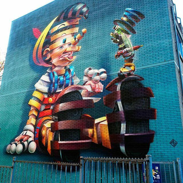 insight out #streetart #pinocchio #pinokkio #superA #rotterdam #afrikaanderwijk #graffiti #art #wallart  #holland #thisisholland #discover_holland #dutch_connextion #dutchlife #dutchstreetart #010 #rottergram #rottergram010 #rdam