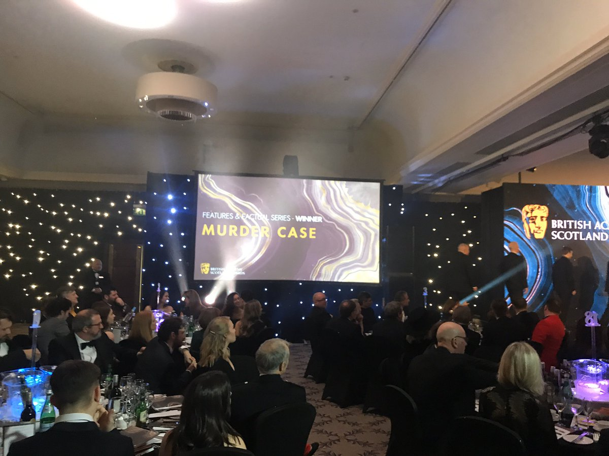 Delighted and humbled to see @FirecrestFilms and @MattPinder2000 win for #murdercase - thanks to @policescotland and everyone involved #BAFTAscotland<br>http://pic.twitter.com/d81PPbHWXN