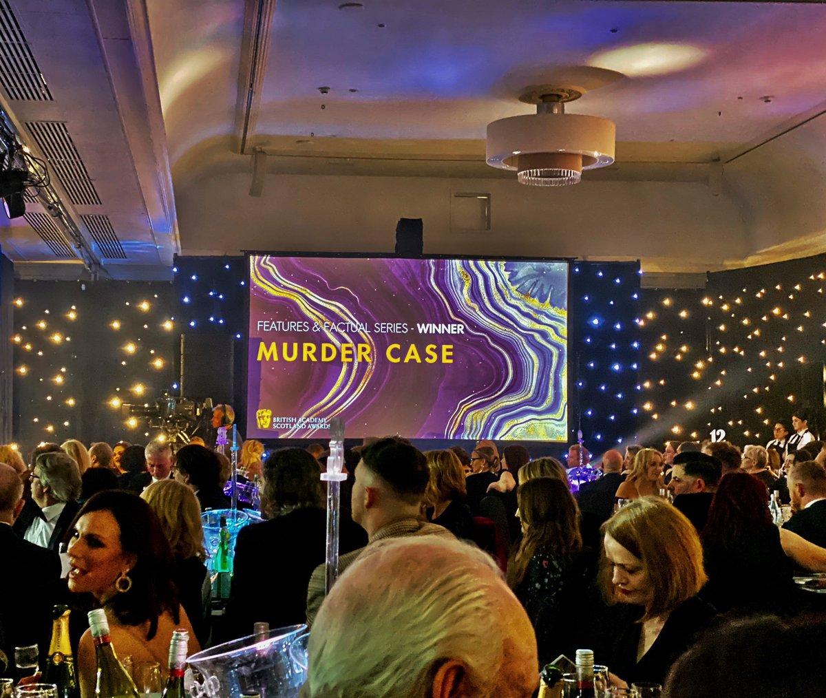 Well deserved @FirecrestFilms @MattPinder2000 - #MurderCase was an extraordinary series #BAFTAScot19<br>http://pic.twitter.com/eLeFjcnE5o – à DoubleTree by Hilton Hotel Glasgow Central