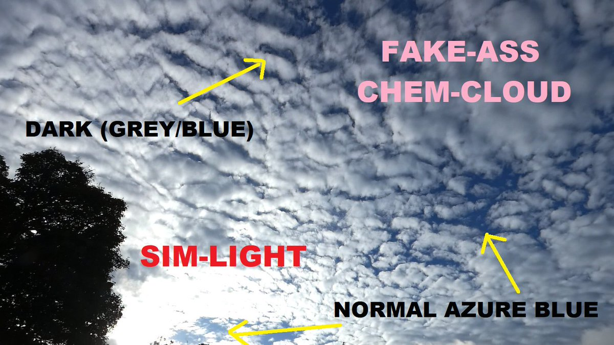 ATTN UK/Ire...(Europe/US?) daily cycle sun cover returns. Key times are late morning and late afternoon. Watch: 1. sky directly above going a darker grey/blue as it loses real sunlight yet rest of sky normal 2. increased chem- jet traffic & bubble wrap cloud RECORD IT