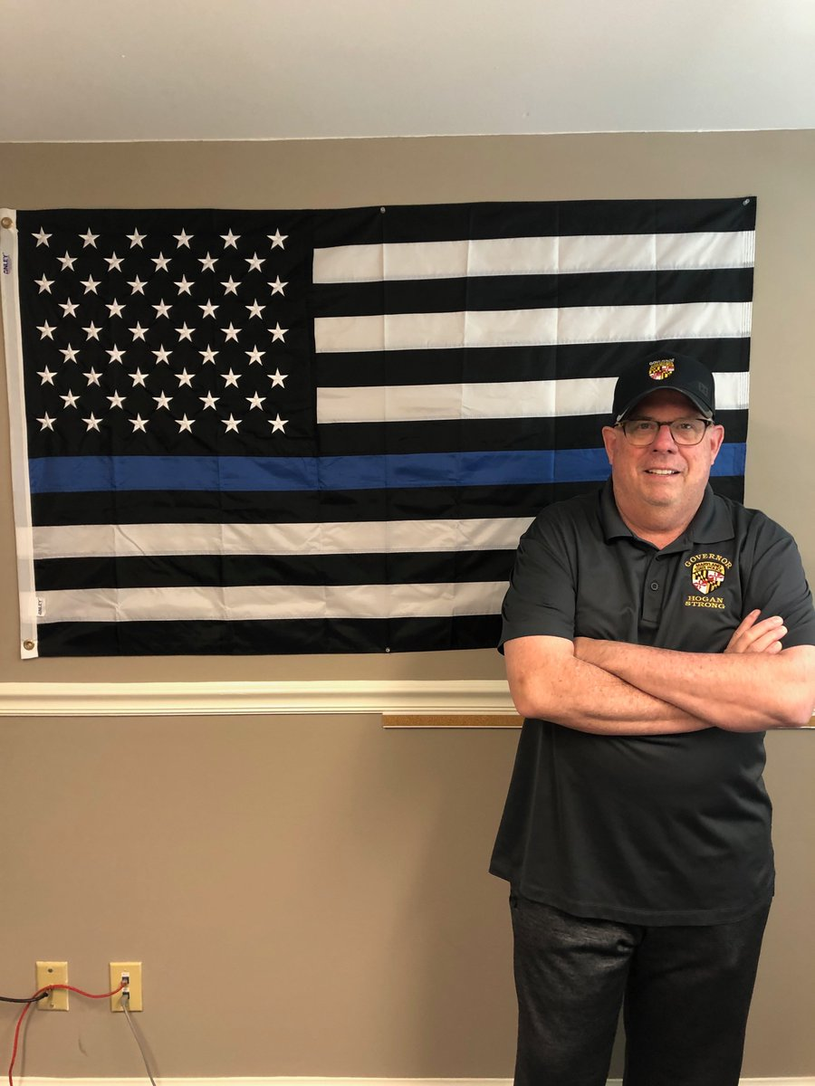 "Ban of ""thin blue line"" flag at Maryland police station slammed by ""disgusted"" governor"