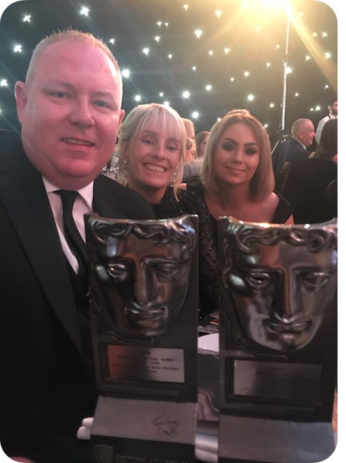 Thank you so much to Lynne, Tiona and Mark, to everyone @policescotland to all of Julie Reilly's family, to @MattPinder2000 and to all of the #murdercase team at Firecrest. So delighted to win #BAFTAScot19 for Murder Case. Twice.<br>http://pic.twitter.com/riDzlHzsP2