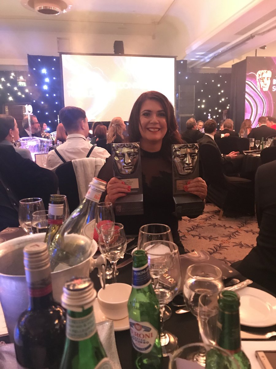 Shout out to the best editor we've ever worked with Audrey McColligan who cut both last year's factual series winner Lifers and tonight's winner #MurderCase. An absolute genius. Huge congratulations to you Audrey. Fantastic to see you recognised. #BAFTAScot19<br>http://pic.twitter.com/gWvvD6KSvI