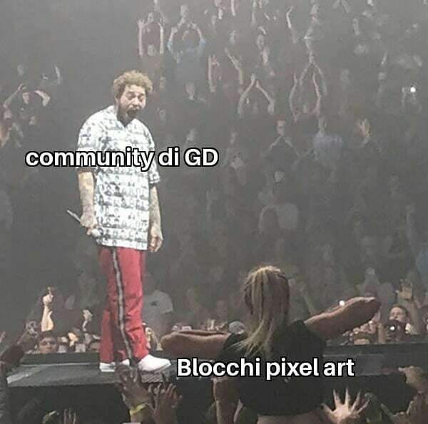 Se non lo sapete, RobTop ha annunciato che nella 2.2 aggiungerà per più di 500 blocchi pixel art (Figo, ma evitabile,dato che si possono ricreare nella 2.1... ma vedremmo in futuro quando uscirà la versione...) ¤XLaxan3000X #geometrydashita pic.twitter.com/u4GvC8aCuS