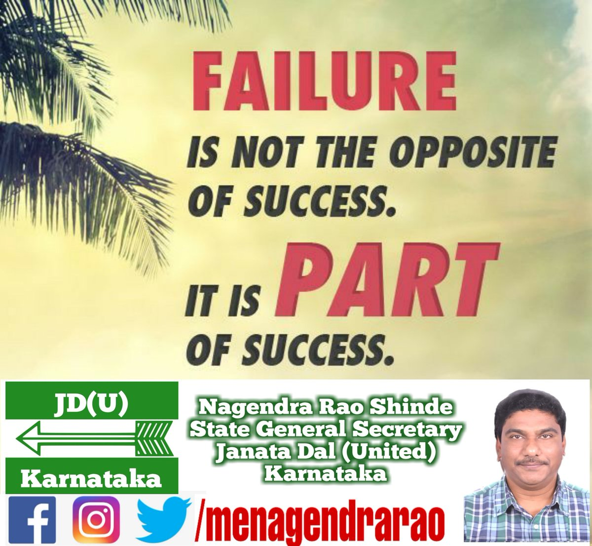 #mondaythoughts #JDU #Karnataka @gsecretaryjdu @NitishKumar @PrashantKishor @afaquejdu @RCP_Singh @SanjayJhaBihar @JDU_India @Jduonline @KCTyagiJDU @sanjaykumarjdu https://t.co/Ybjzlzgs33