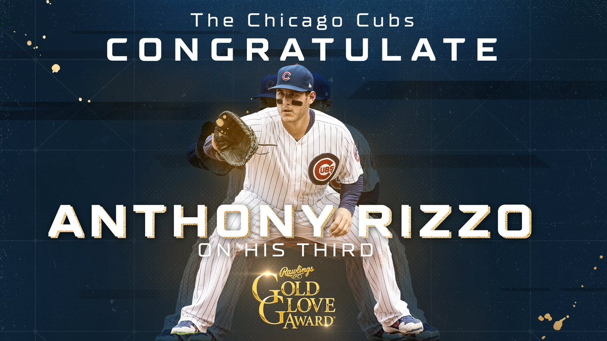 Cubs first baseman Anthony Rizzo and White Sox second baseman Yolmer Sanchez win Gold Gloves