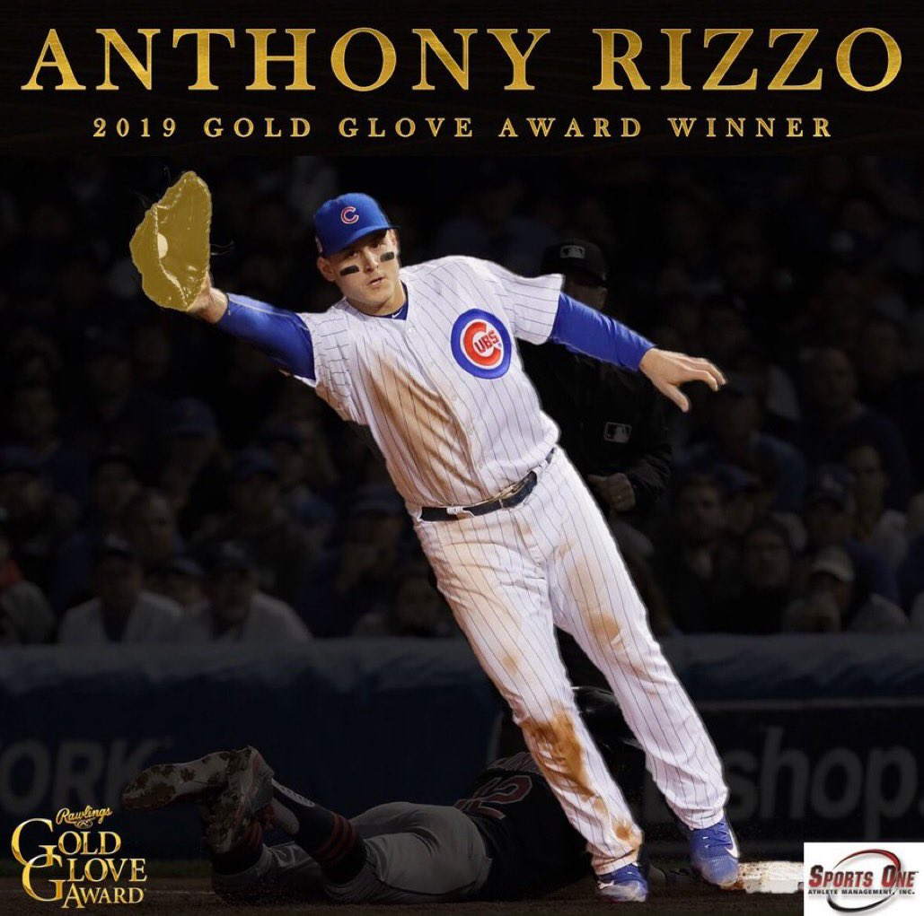 Congratulations to @ARizzo44 on winning a well deserved THIRD career Gold Glove Award! #goldglove #teamrizzo