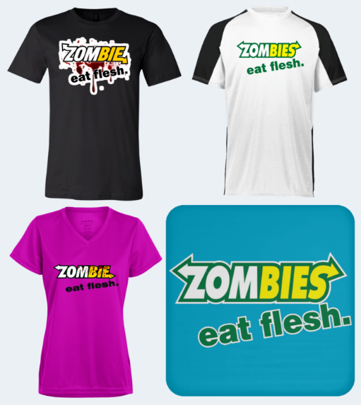 Zombies- Eat Flesh! We have t-shirts, jerseys and even a coaster for those zombies who want to eat healthy :) https://bit.ly/2WESD3O #zombieseatflesh #zombie #zombieshirt #zombietshirt #zombiejersey #zombieseatbrains #zombieseatfresh #zombiebrainshoppic.twitter.com/QpPHaSNRRI