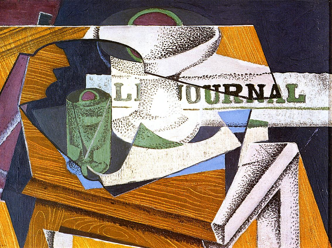 Fruit Bowl, Book and Newspaper #juangris #syntheticcubism<br>http://pic.twitter.com/Rj3OUyX2KH