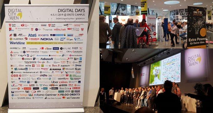 Bei den heute und morgen am Erste Campus Wien stattfindenden #DigitalDays geht es um...