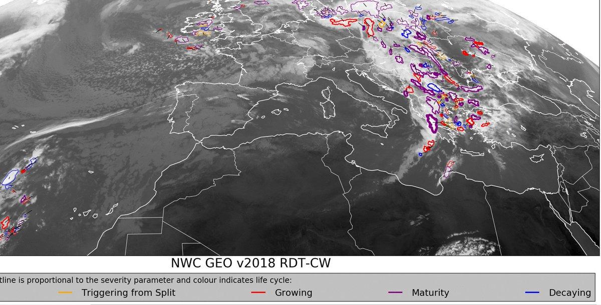 H δυτική Ελλάδα επηρεάζεται περισσότερο από το σύστημα το οποίο κινείται ανατολικότερα . Τοπικά θυελλώδεις νότιοι άνεμοι πνέουν στο Αιγαίο. hnms.gr/emy/el/warning…