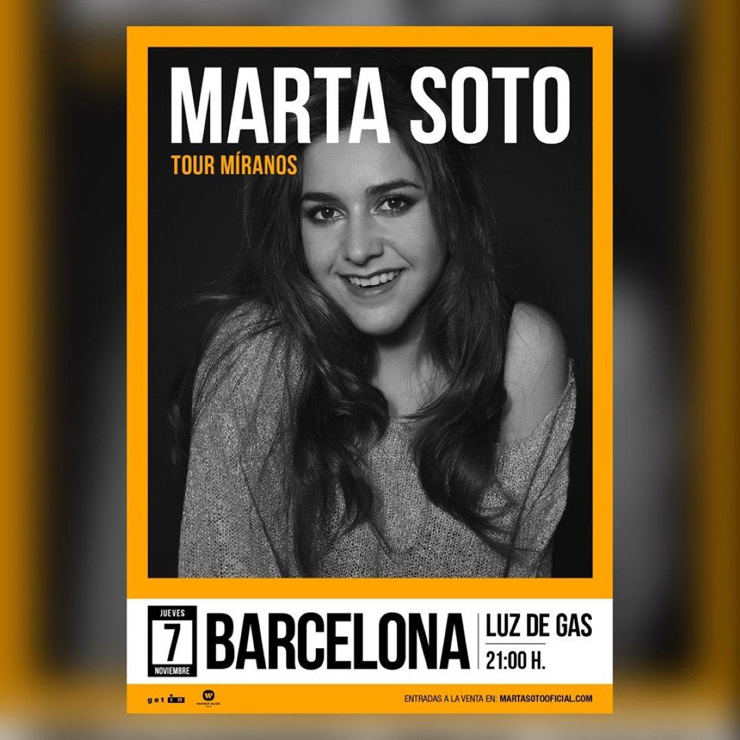 """Passió i talent amb @martasoto avui a partir de les 21h a @LuzdeGasClub 😍🤩 Junts amb """"Míranos"""", una gran història d'amor 🤗🎶🎶🎶"""