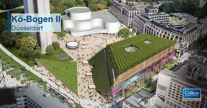 Shoppen und arbeiten im Einklang? Das ermöglicht Ihnen das Neubauprojekt Kö-Bogen II, welches zwischen dem Gustaf-Gründgens-Platz, der Schadowstraße und dem Joachim-Erwin-Platz gelegen ist. Es entsteht ein Gebäudeensemble mit ca. 4.800 m² Bürofläche:   t.co/EF1IYI15Go