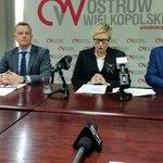 Image for the Tweet beginning: Konferencja prasowa prezydent Ostrowa Wlkp.