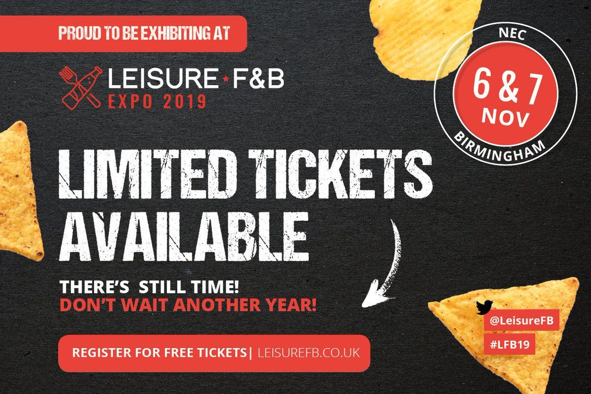Only one more day until we attend the @LeisureFB at the NEC. There's still time to book a last-minute ticket! The Flexeserve Zone® will revolutionise your business, don't believe us? Visit us on stand FB2143 to find out more. #flexeserve #hotfoodtogo #LFB19 https://t.co/Z17yxQ7i8o