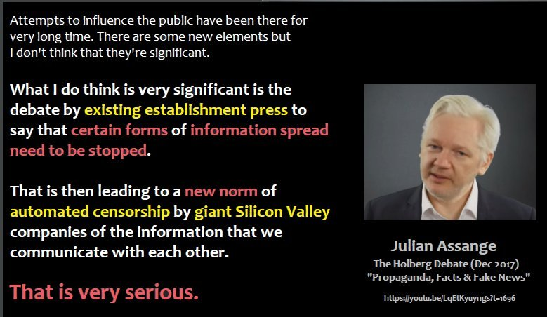 As long as Julian Assange (politically persecuted #WikiLeaks publisher and multi-award-winning journalist) is incarcerated and unable to speak out or defend himself well be Julians voice. Lets all #AmplifyAssange by sharing his words: