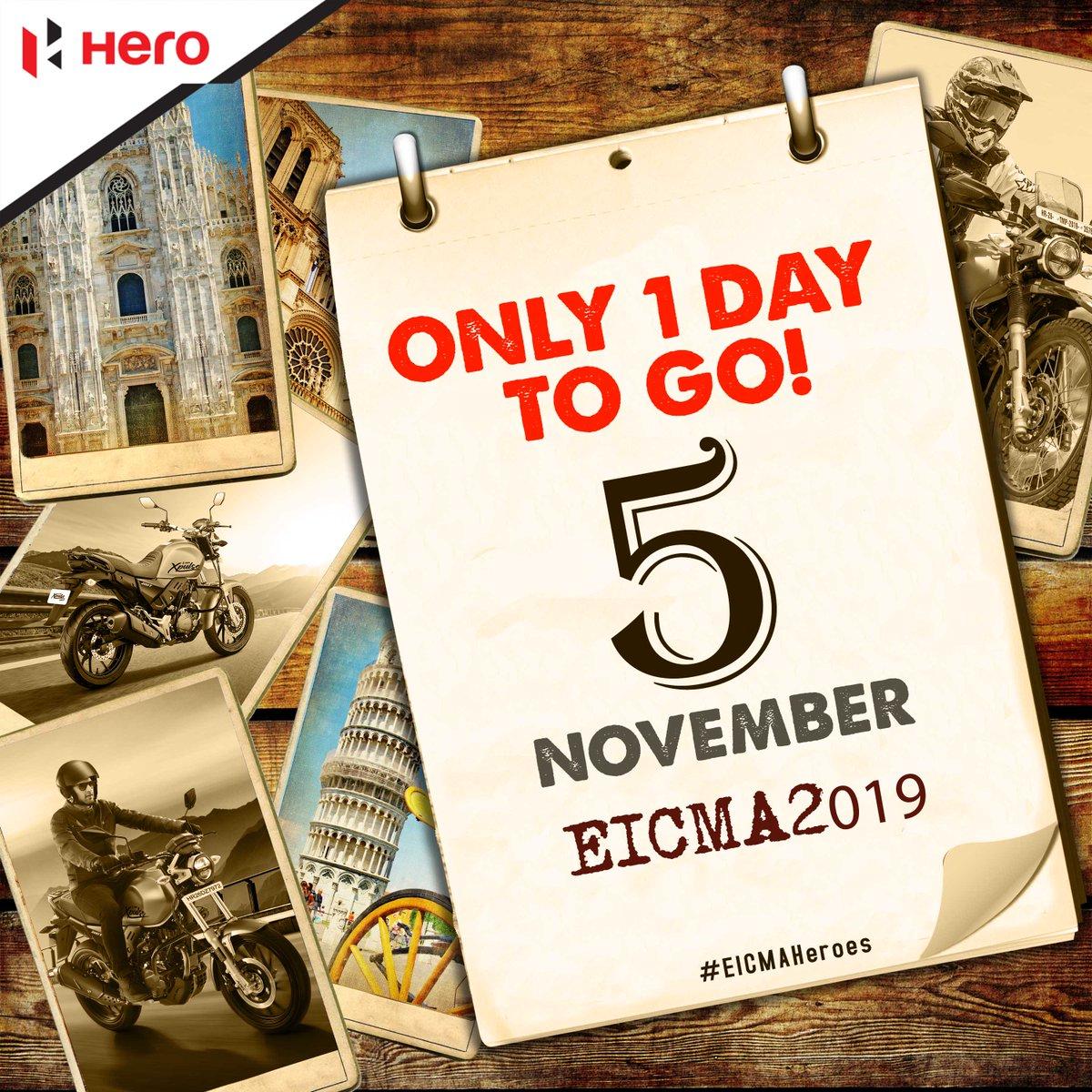 Only 1 day to go EICMA 2019 starts November 5. EICMAHEROES https t.co GdhMI3Ek35