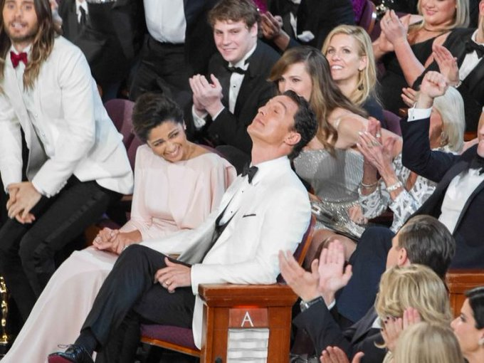Wining the like a Boss Still one of the best Oscar moments of all time.  Happy Birthday Matthew McConaughey