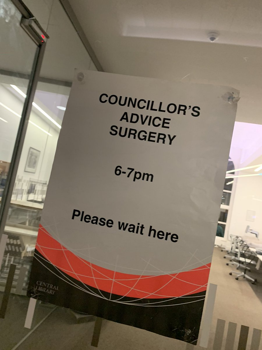 I'm holding my advice surgery this evening 6-7pm in Central Library 👋🏼