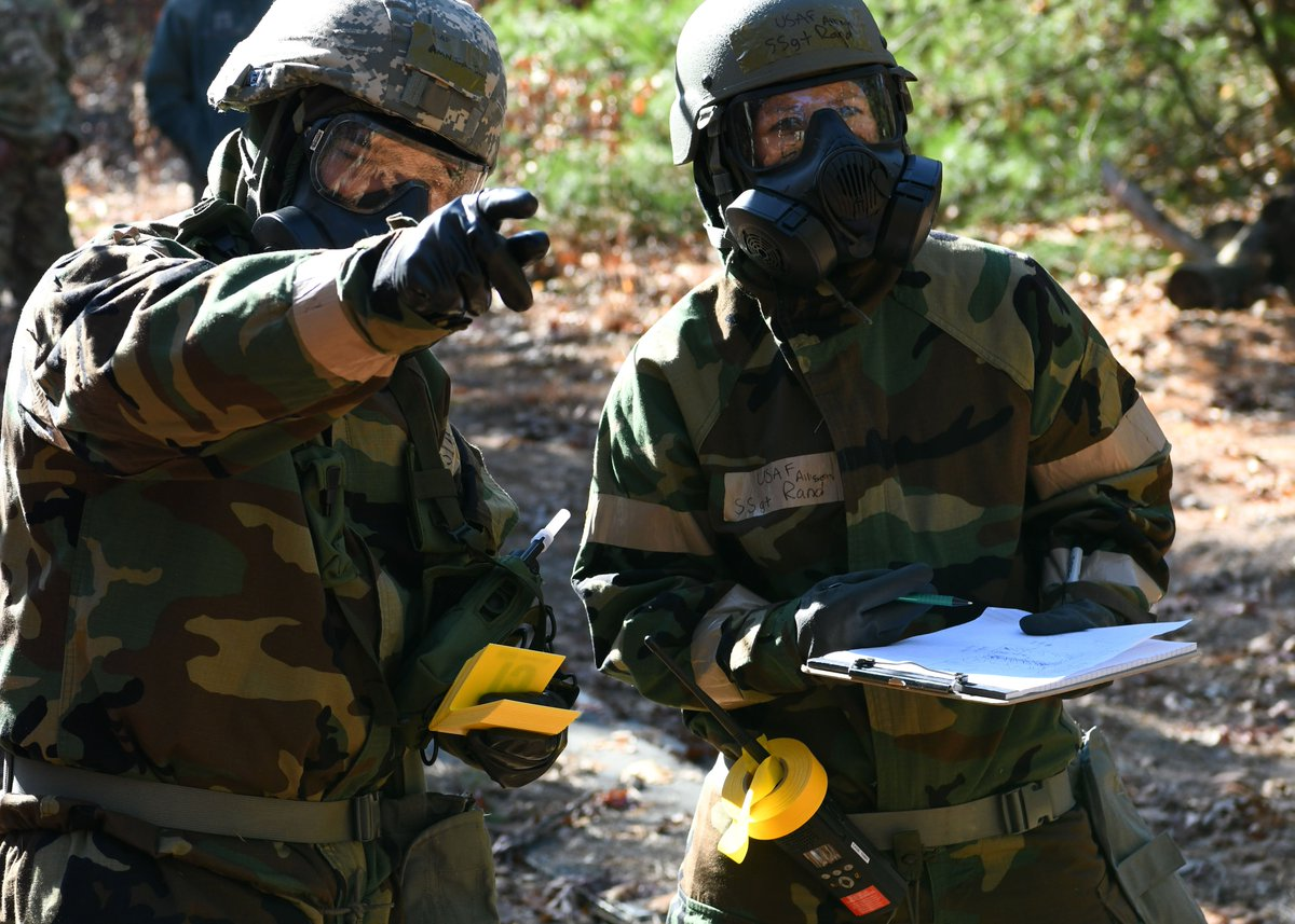 Gas! Gas! Gas! @104fighterwing Airmen tested their readiness to conduct operations in #MOPP gear during a CBRN exercise on base. Story 🔗 here: ow.ly/XQc830pPG3r