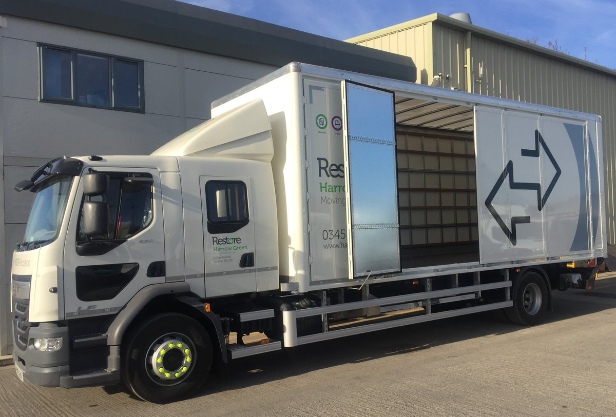 test Twitter Media - 18t Daf  LF Crew Cab,  N/s of body bi fold door system  6 doors along nearside of the body  Ferry lashing rings  Dhollandia DHLK.15 Canti lever tail lift.   With thanks to @LancashireDaf  @Asset_Alliance @AAG_Sales & @HarrowGreen   #BiFoldDoors #Dhollandia #CantileverTailLift https://t.co/OJi234ONUJ