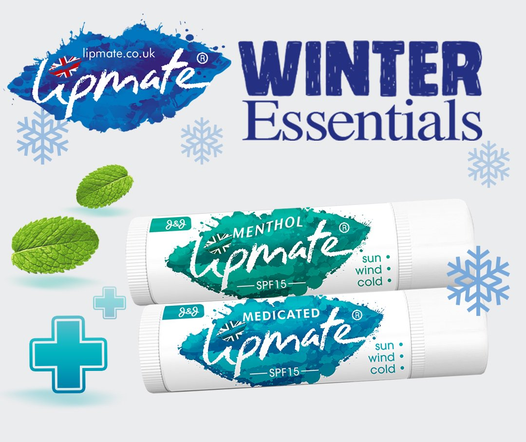 Suffering from #DryLips  ? Try our #WinterEssentials  Lip Balm pack for a cooling effect from the #Menthol  and soothing effect from #Eucalyptus  🇬🇧
