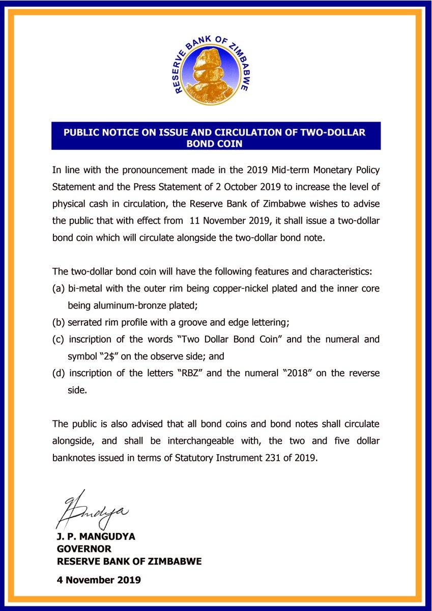Reserve Bank public notice