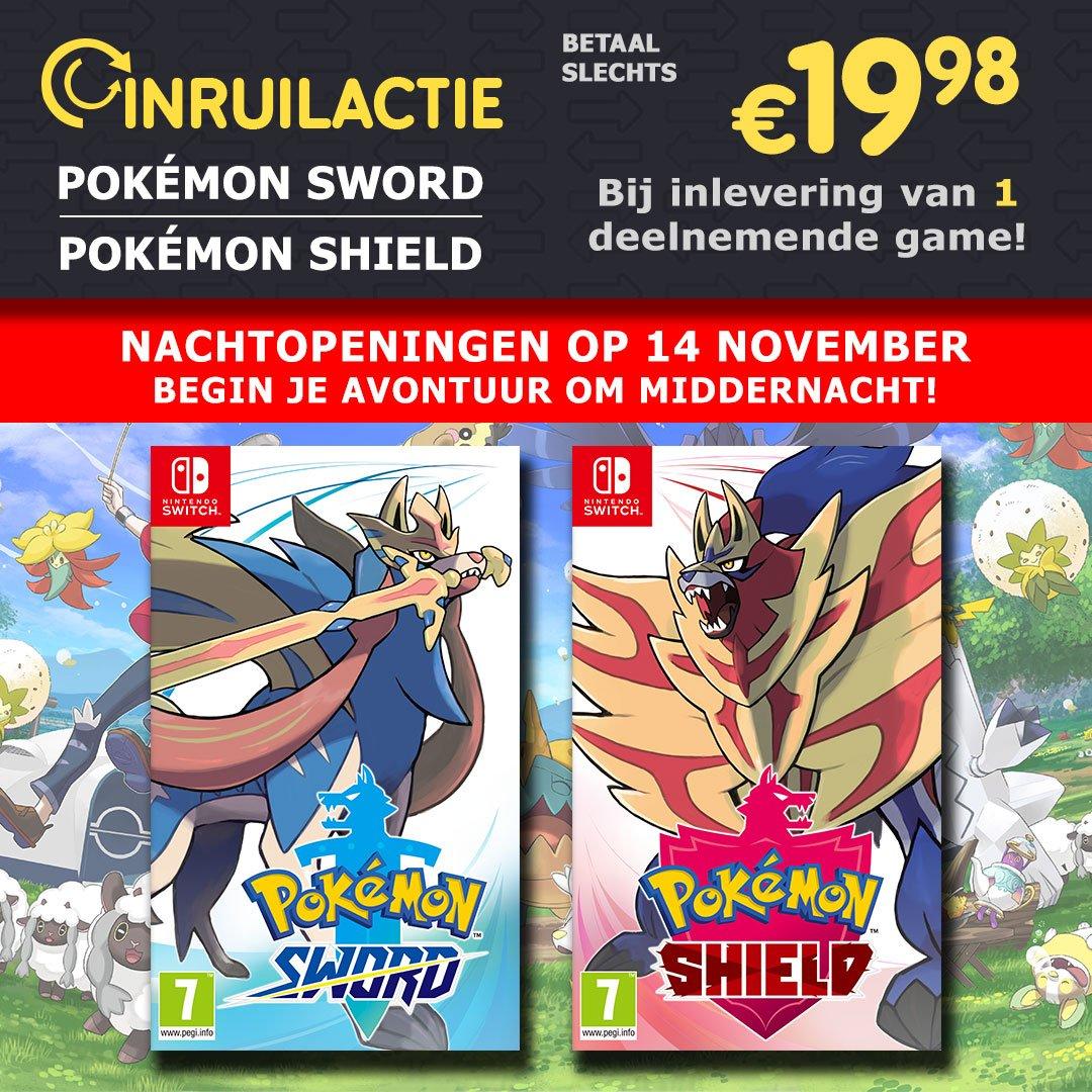 Game Mania Nederland houdt een nachtopening voor Pokémon Sword en Shield, in de nacht van 14 op 15 november. (M.u.v. Kronenburg en Leeuwarden)