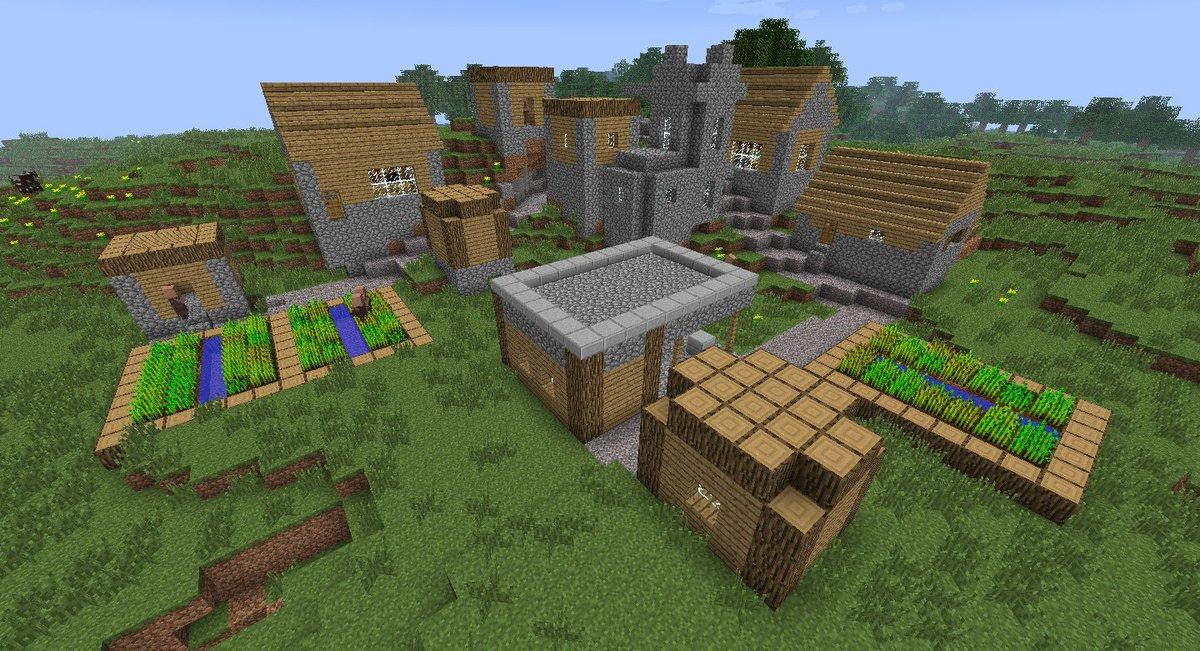 как разводить деревню в майнкрафт #1