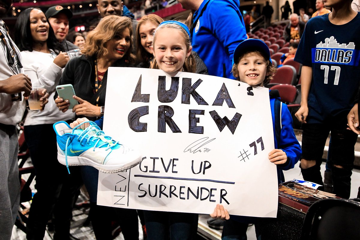 Some of our youngest MFFLs got a special treat last night when @luka7doncic gave them his game-worn shoes!   And a special shoutout to @DallasMavs fans from across the globe for always believing in us! We play for YOU!    #MFFL