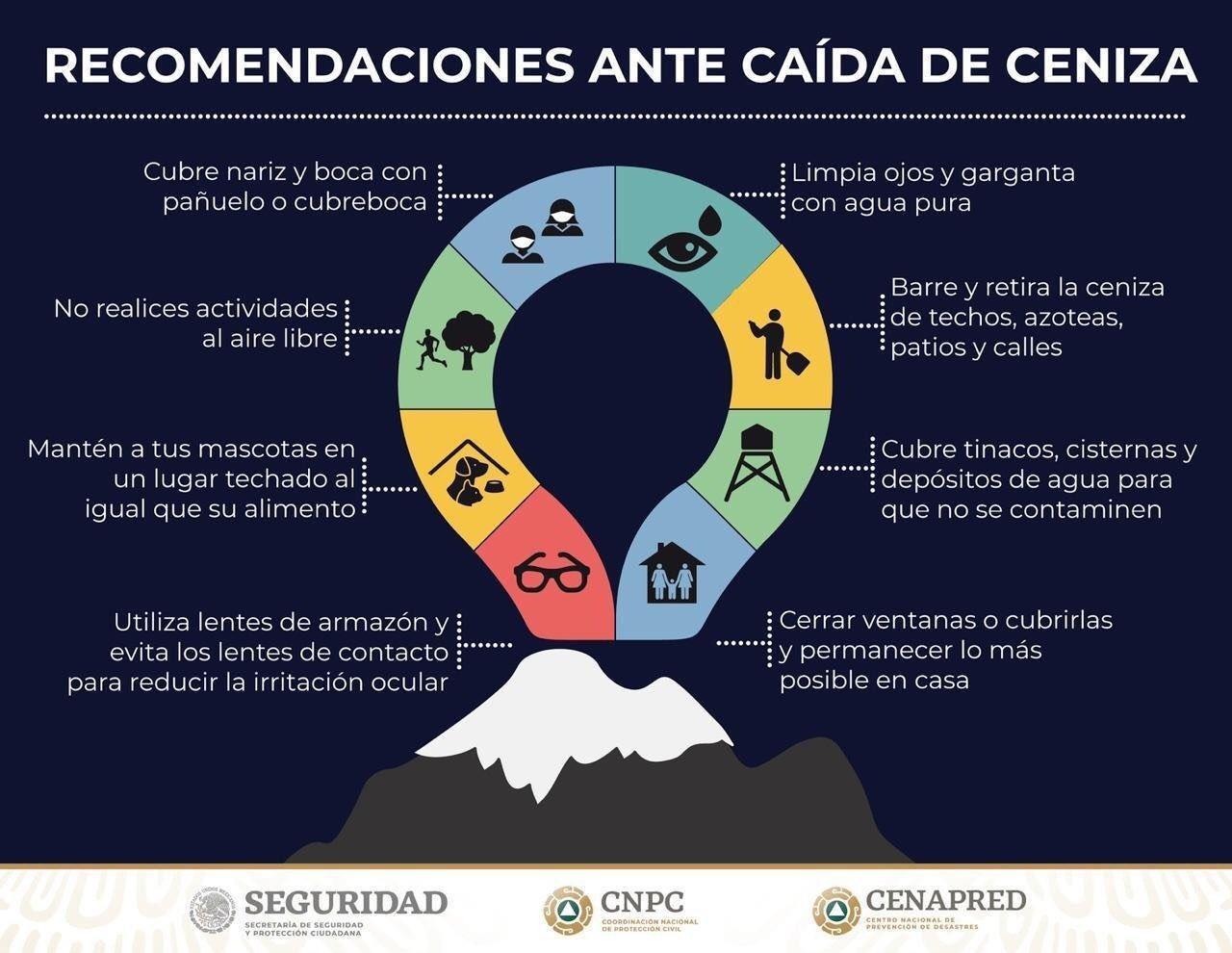 Querétaro, afectaciones por caída de ceniza
