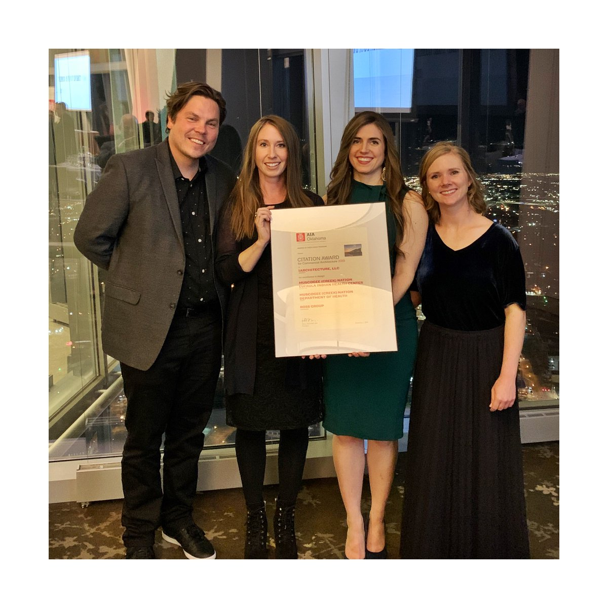 Big congrats to our team for winning a Citation Award at the AIA Oklahoma Design Excellence Awards  for the Eufala Indian Health Center! . #1architecture #architecture #tulsaarchitects #designcanchangetheworld #sustainability #clientsfirst #creativity #onecanmakeadifference<br>http://pic.twitter.com/uyjzua5bvW
