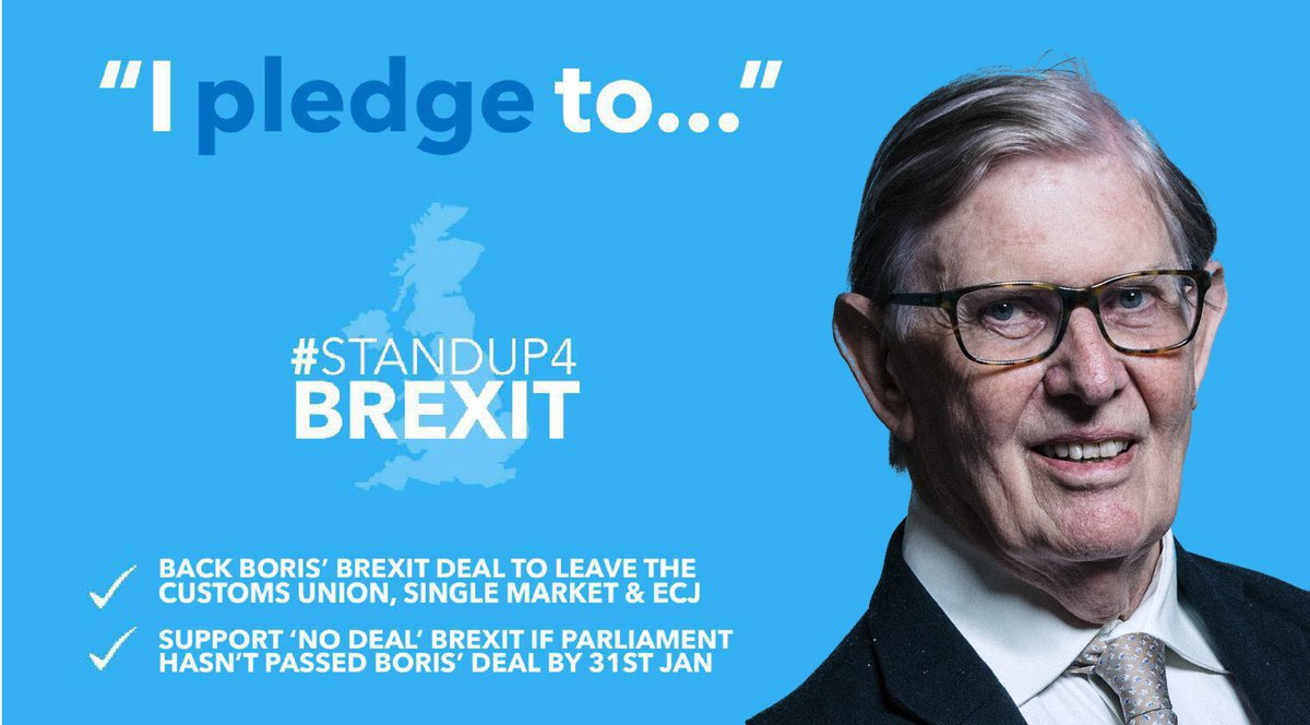 Thank you to @BillCashMP for underlining, once more, his #StandUp4Brexit commitment. ✔️ #BackBoris' deal to #GetBrexitDone ✔️ Back 'no deal' if the WA hasn't been passed by 31st January