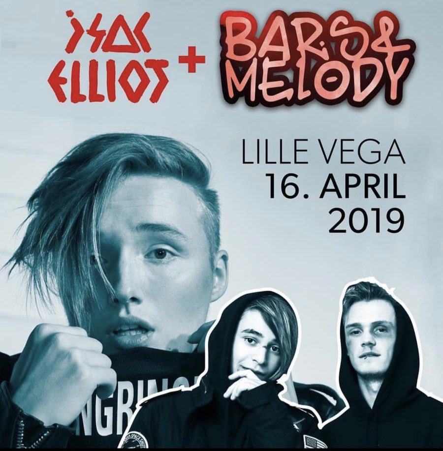 DENMARK❤️🇩🇰 Tomorrow at Lille Vega with my good friends @BarsAndMelody