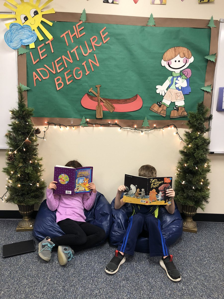 Our Happy Camper's reading! Favorite space! Favorite place! #Happycampers@SE