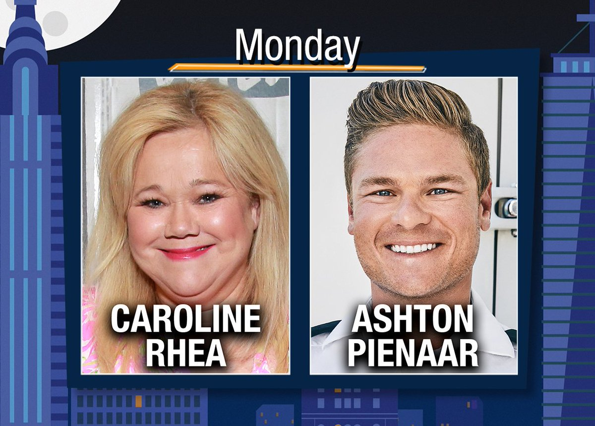 TONIGHT at 10PM we're LIVE w/ @CarolineRhea & @AshtonPienaar! Start tweeting @Andy your questions!