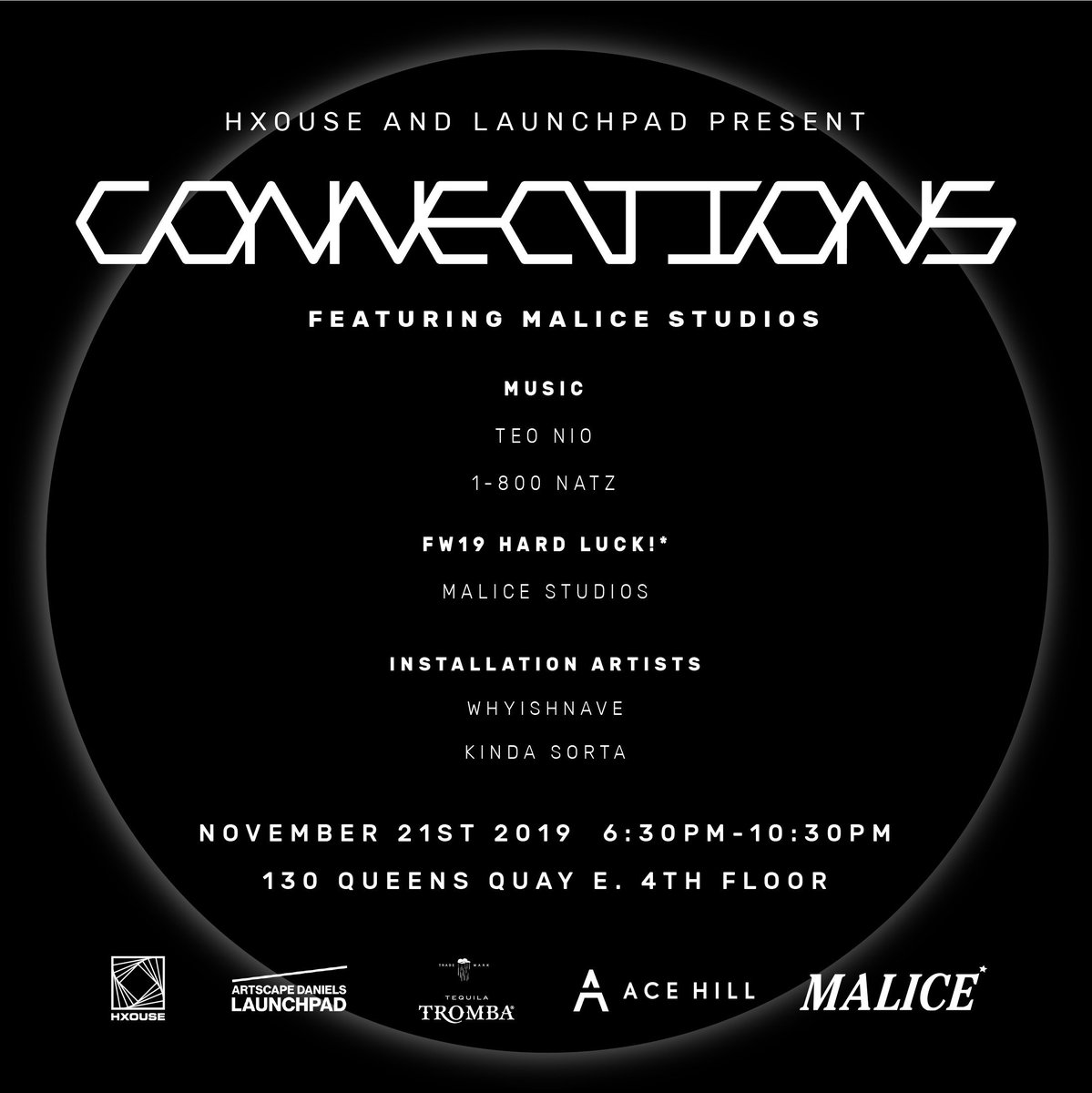 CONNECTIONS NOV 21 — TICKETS — HXOUSE.COM/EVENTS