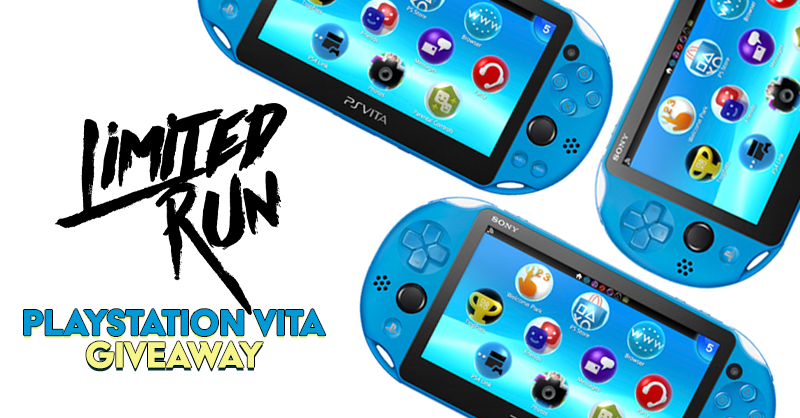 We're giving away a Vita and you could be the winner!  To enter: follow us & RT this tweet. We'll draw a winner on 11/30.  In addition, for every 1,000 retweets this gets, we will add a Limited Run Vita game to the grand prize. We've got over 100 of them, so keep the RT's coming!