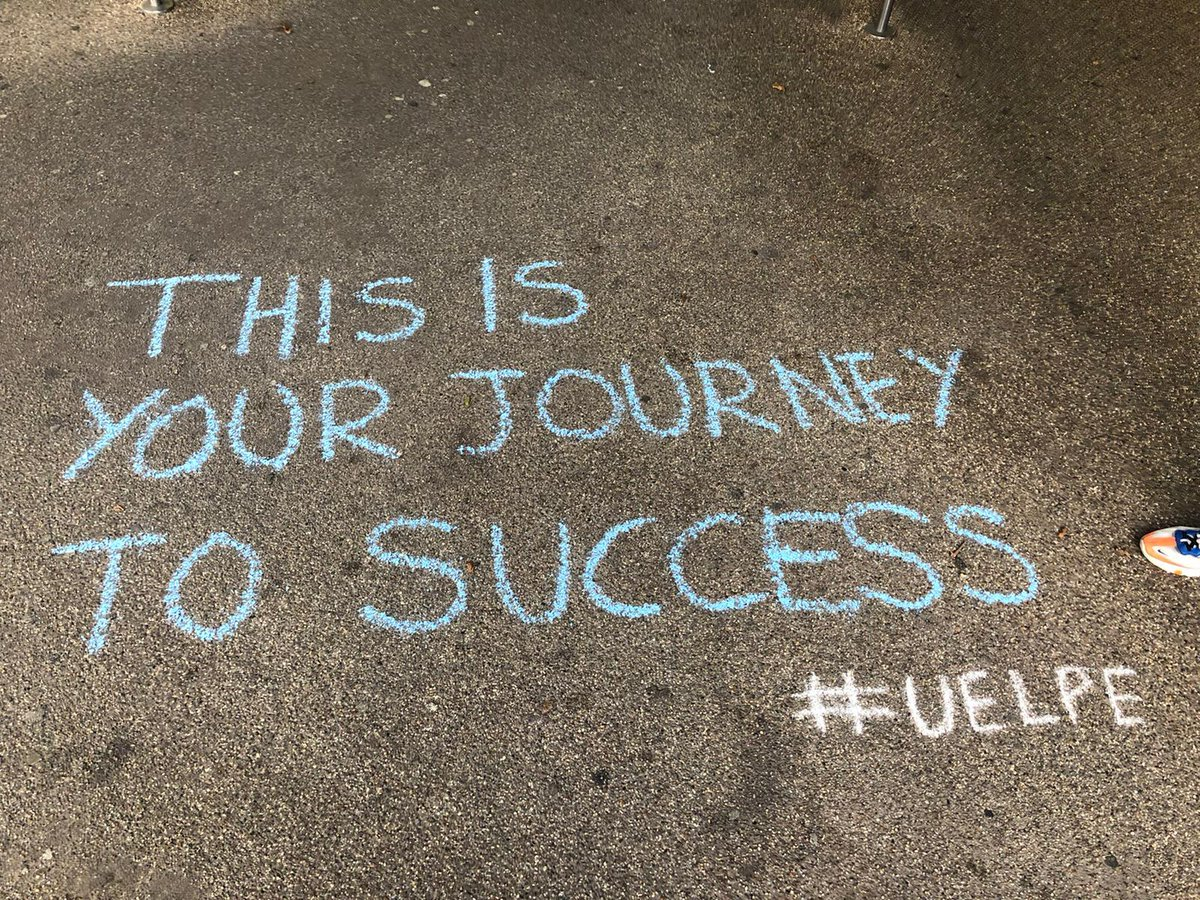 #uelpe took over @UEL_News & @Cass_UEL with messages of body love, mindful moments & emotional encouragement #chalking #GraffArt #movement #PhysEd  #StressAwarenessWeek #mystudentsROCK #ilovemyjob Also read our chapter on STRONG bodies @Dr_Mara_Simon #challenge #everyBODYisunique